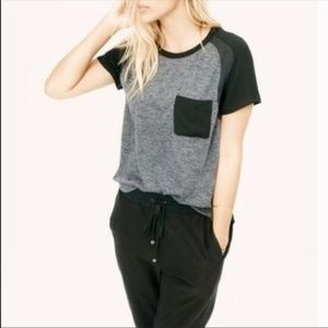 Lou and Grey black and gray pocket Tee